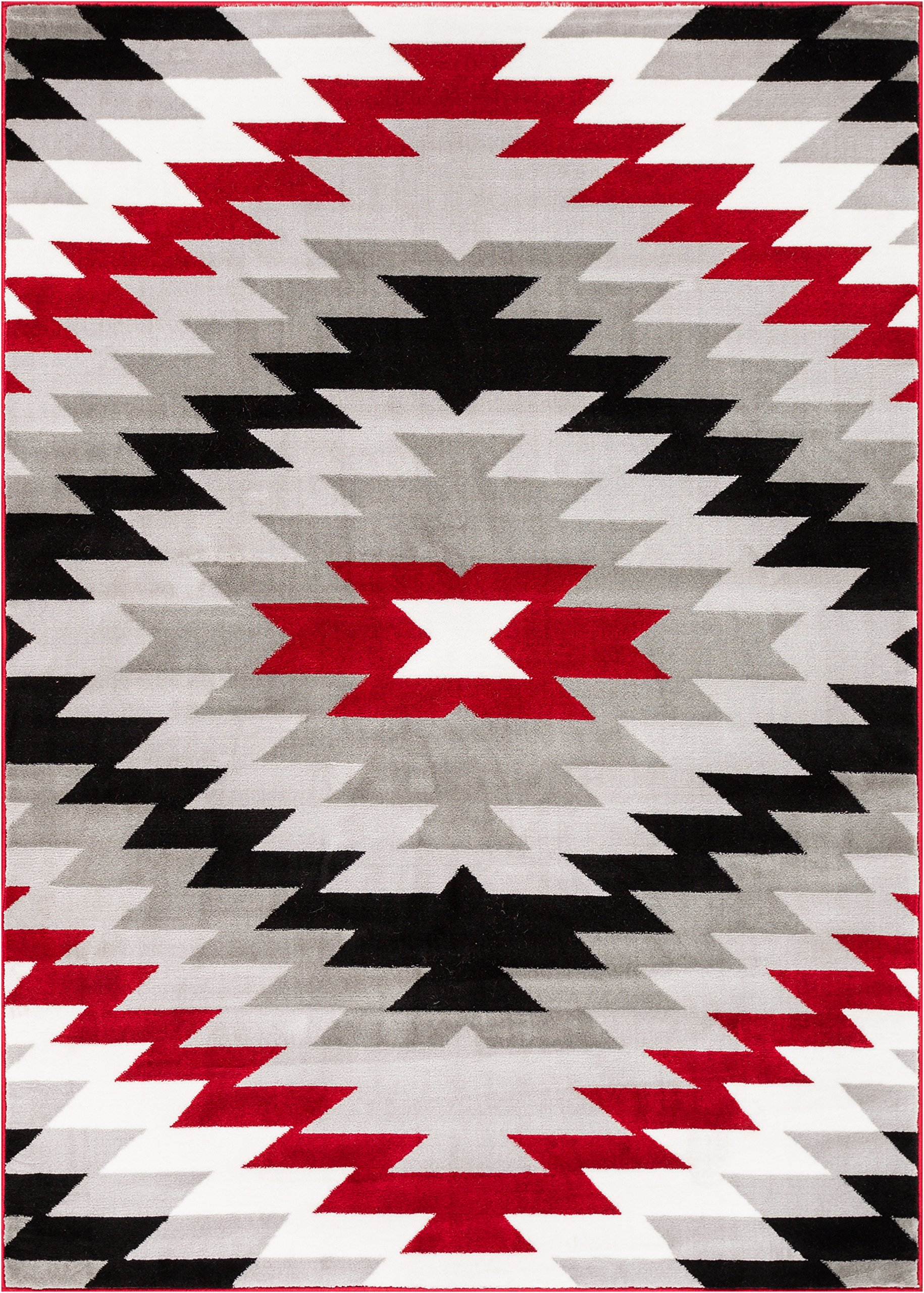 Well Woven AS-88-5 Bingo Dulcet Modern Area Rug, 5'3'' x 7'3'', Red by Well Woven