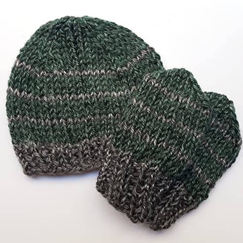 15fee180fcc Image Unavailable. Image not available for. Color  Baby Slytherin Knit Hat  and No Scratch Mitten Set
