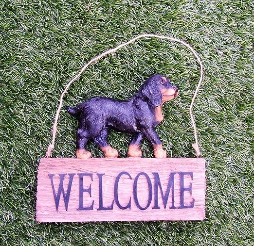 Garten Deko Perro Welcome/Decorar/Jardín/Decoración/Animales: Amazon.es: Jardín