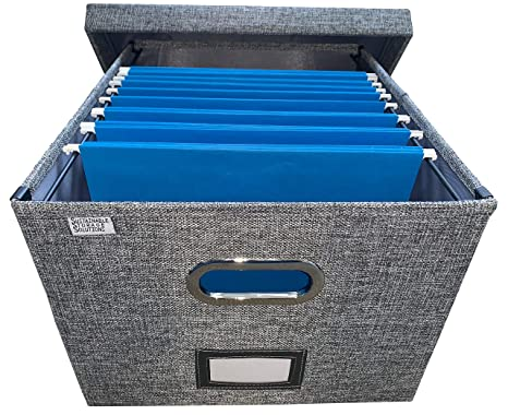 Amazon.com: Organizador de archivadores plegable con tapa ...