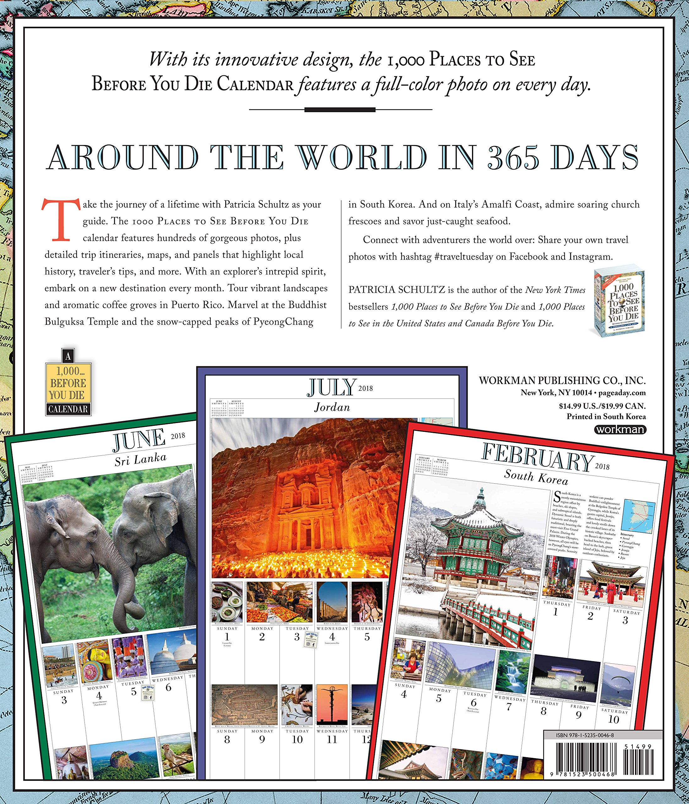 1, 000 Places to See Before You Die Picture-A-Day Wall Calendar 2018:  Patricia Schultz: 9781523500468: Amazon.com: Books