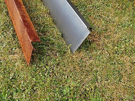 Rasenkante Corten Stahl Edelrost M/ähkante Metall Beeteinfassung Edelrost rostig