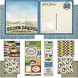 Scrapbook Customs Themed Paper and Stickers Scrapbook Kit, North Dakota Vintage
