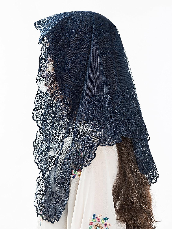 Blue Catholic Veils and Mantillas - Beautiful Lace Mantillas, Catholic Chapel Veils and Head Coverings for Mass