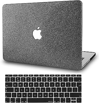 KECC MacBook Pro 16 2020//2019 Pulgadas Funda Dura Case w//EU Cubierta Teclado Cover Viejo MacBook Pro 16 Ultra Delgado Cuero{A2141} Cuero Negro