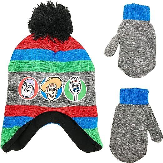 Gloves Winter Set Kids Boys Hat Set Buzz Woody Forky Gift Disney Toy Story 4 Woolly Hat