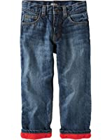 OshKosh B'G'osh Baby / Toddler Boys Red Warm Thick FLEECE-LINED JEANS