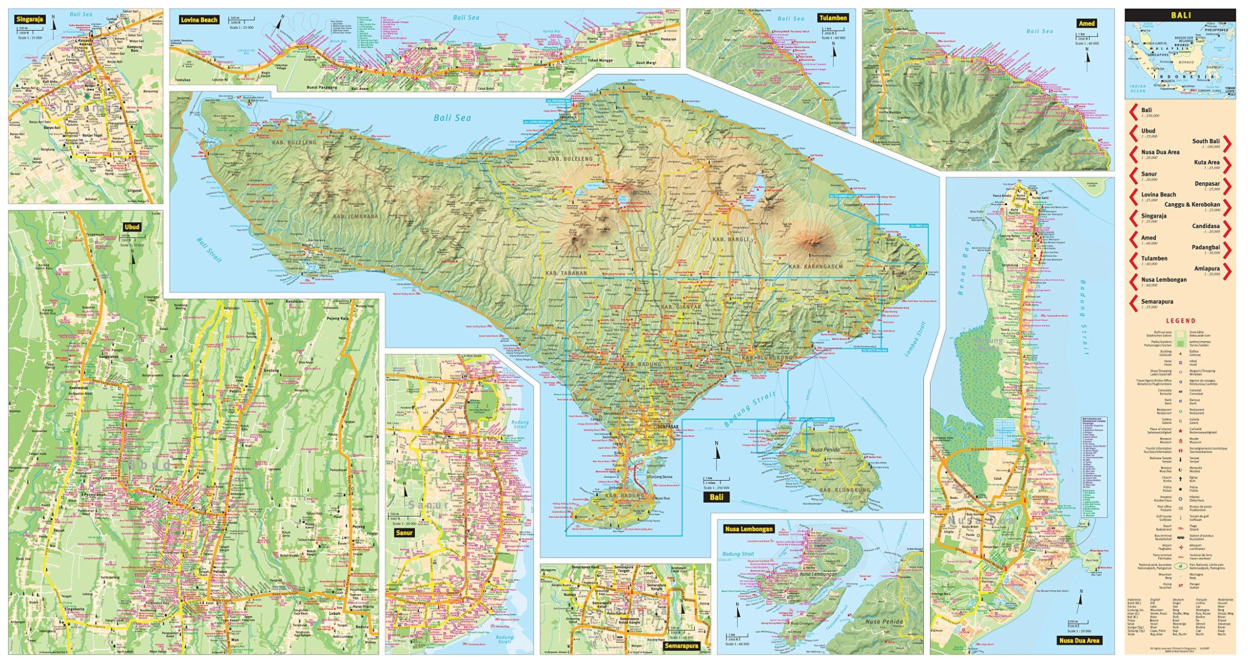 Bali Travel Map Ninth Edition (Periplus Travel Maps ... on denpasar map, kuta map, bora bora map, china map, flores map, bali pictures, bhutan map, pacific map, japan map, kuala lumpur map, sulawesi map, new caledonia map, cambodia map, bali news, italy map, thailand map, cape town map, bali information, bali travel, java map, fiji map, world map, indonesia map, tahiti map,