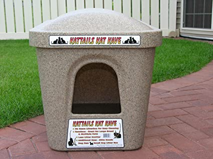 Amazoncom Kattails Kat Kave Litter Box Extra Large Cat Litter Box