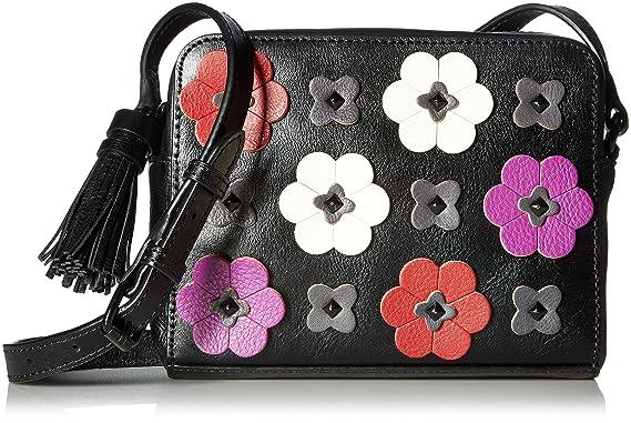 Amazon rebecca minkoff floral applique camera bag black