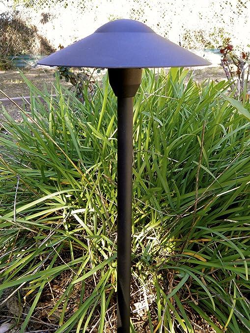 Amazon led 12v landscape mushroom light in black finish led 12v landscape mushroom light in black finish aloadofball Choice Image