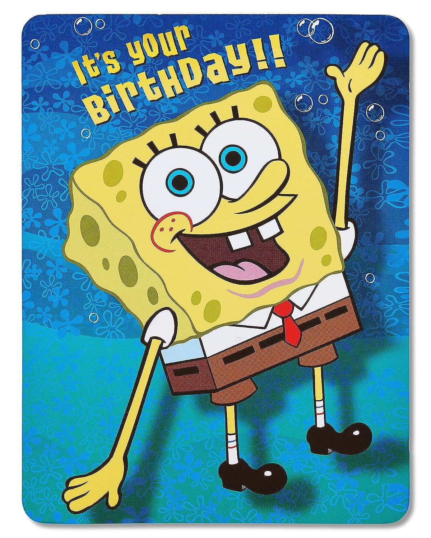 Amazon American Greetings Spongebob Squarepants Birthday Card