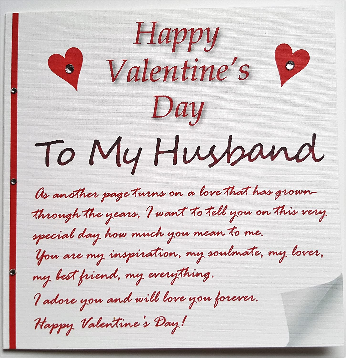 Handmade Valentines Card  A love letter to my husband Amazonco