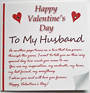 Handmade Valentine'S Card - A Love Letter To My Husband: Amazon.Co