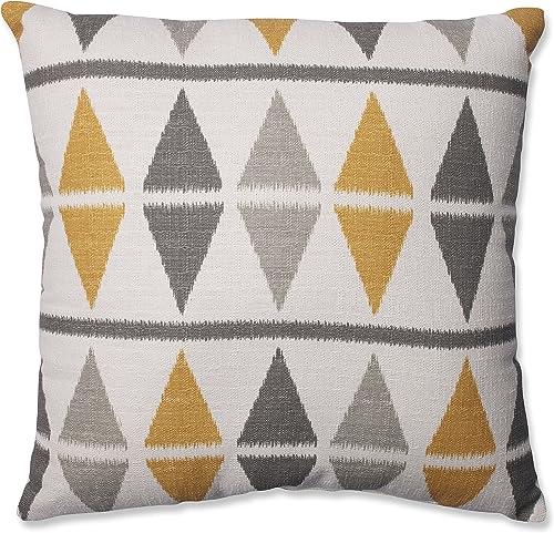 Pillow Perfect Ikat Argyle Throw Pillow, 18-Inch, Birch