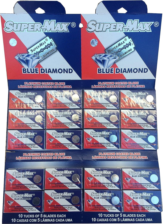 100 Cuchillas de afeitar Super-Max Blue Diamond