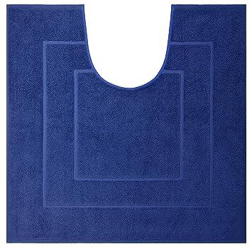 Lashuma Frottee Badezimmerteppich Sapihr Blau Saugstarker Wc