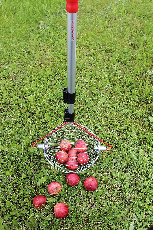 Walnusssammler Obstsammler Fr/üchtesammler Apfelsammlerrolle Blitz die kleinste Obstsammelmaschine Leichte Walnusserntemaschine mit teleskopierbarer 18,90-41,34-Zoll-Rute f/ür N/üsse Pekann/üsse Pflaumen