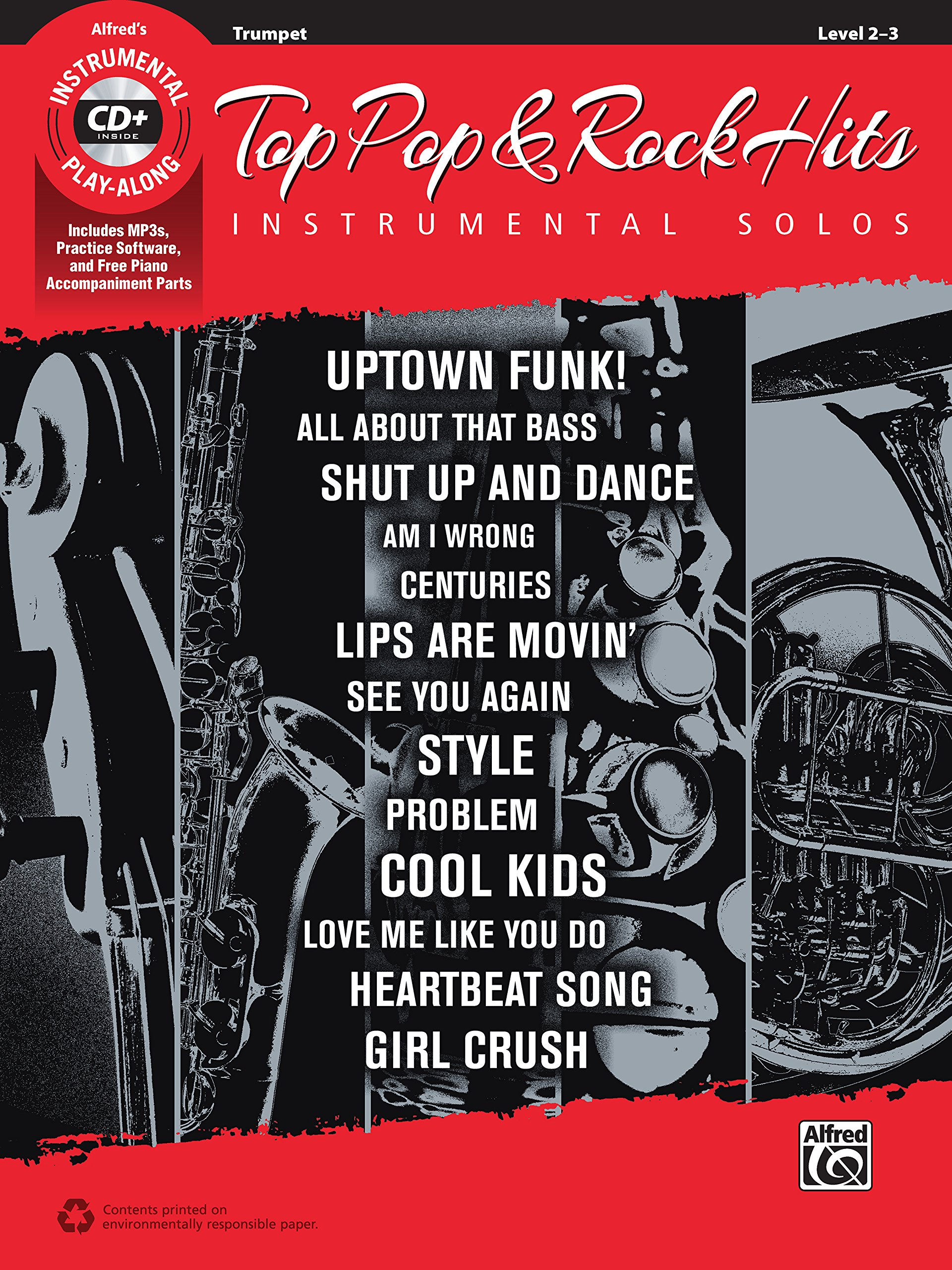 Top Pop & Rock Hits Instrumental Solos: Trumpet (Book & CD) (Top Hits Instrumental Solos)
