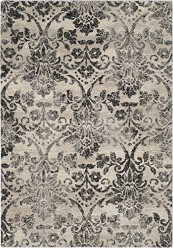 Safavieh Retro Collection RET2184-1180 Cream and Grey Area Rug 8 x 10