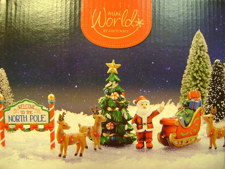 Amazon.com: Mini Christmas North Pole Starter 7pc set.: Home & Kitchen