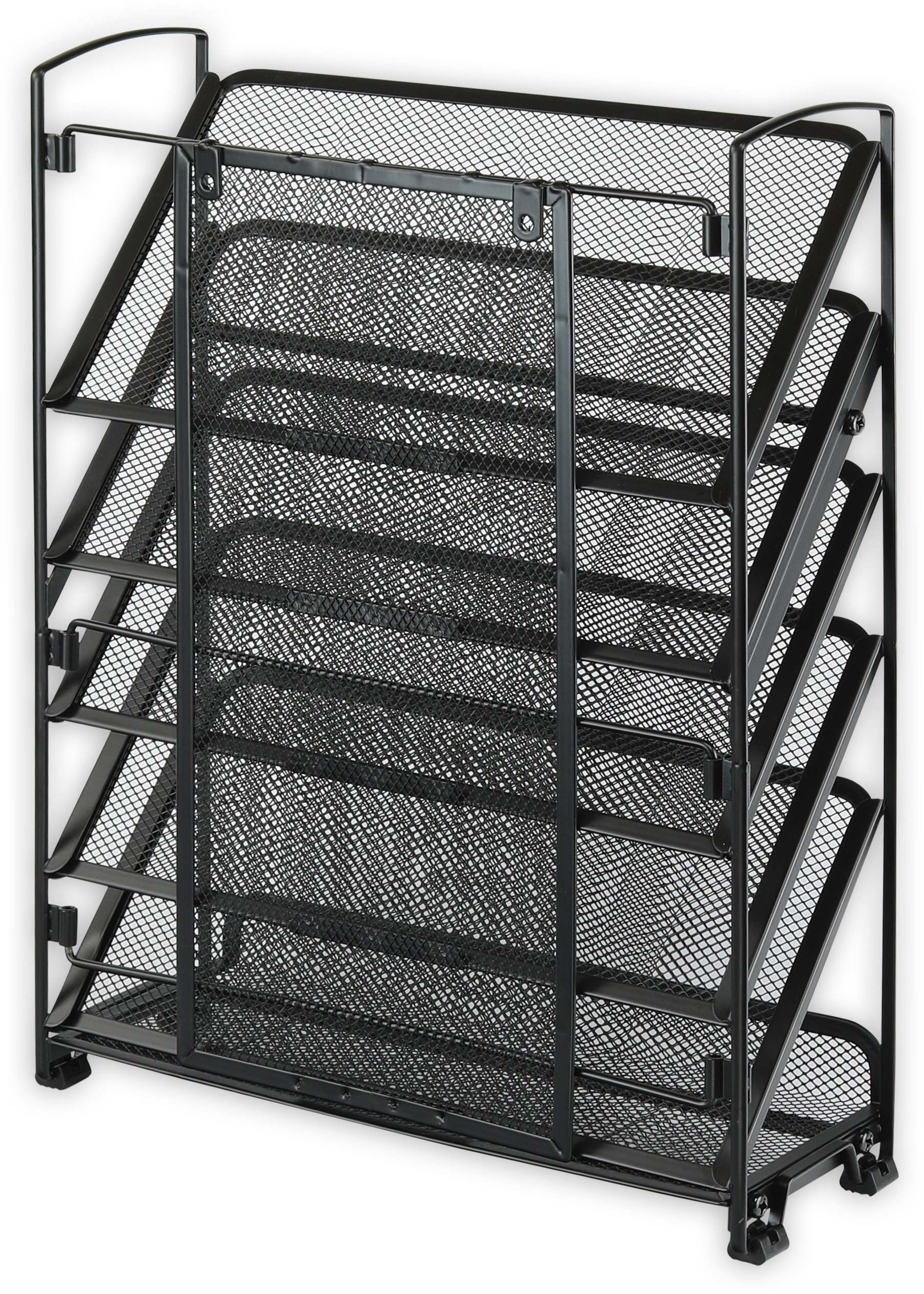 SimpleHouseware 6 Tier Wall Mount Document Letter Tray Organizer, Black by Simple Houseware (Image #5)