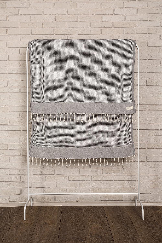 Absorbent 37X70 Inches Oeko-TEX Certified Ultra-Soft Ventura Turkish Towel Bath Beach Fouta Peshtemal Decorative Pestemal Bersuse 100/% Cotton White Bersuse Towels