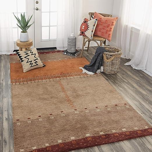 Amazon Com Rizzy Home Mojave Collection Wool Area Rug 8 X 10