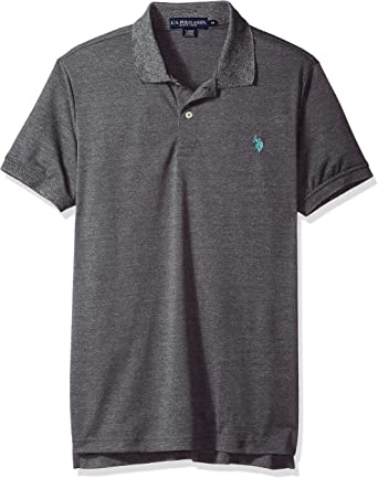 US Polo Assn. Hombres Classic Fit Solid Short Sleeve Poly Polo Shirt Manga Corta Camisa Polo