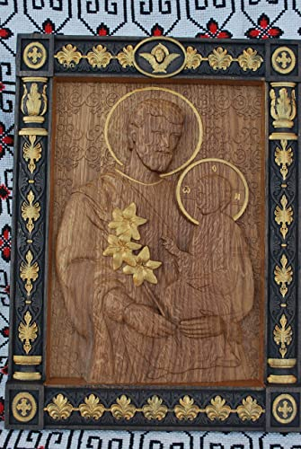 Amazon.com: Christmas gifts for dad Saint Joseph and Baby Jesus Wood ...