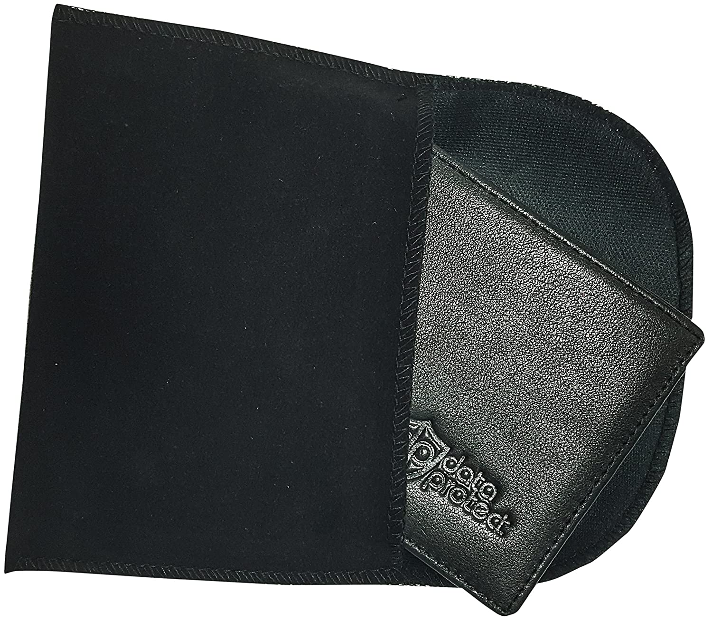 Cartera de piel negra con protección-RFID para tarjetas de crédito, tarjetas de banco y DNIs – cartera seguridad con monedero contra el robo de datos ...