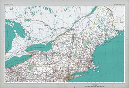 Amazon.com: Home Comforts Laminated Map - Northeastern Us ...