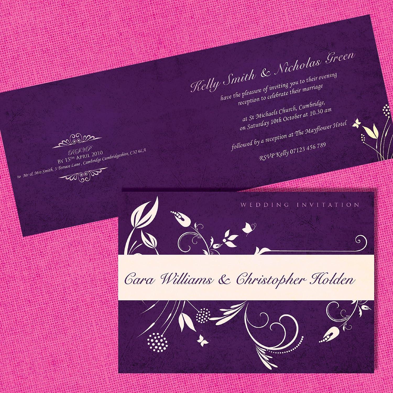 Wedding Invitations Personalised or Evening Invitations Invites Incl Envelopes