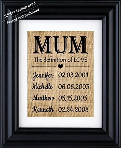 mother s day gift from kids personalized gift for mom children