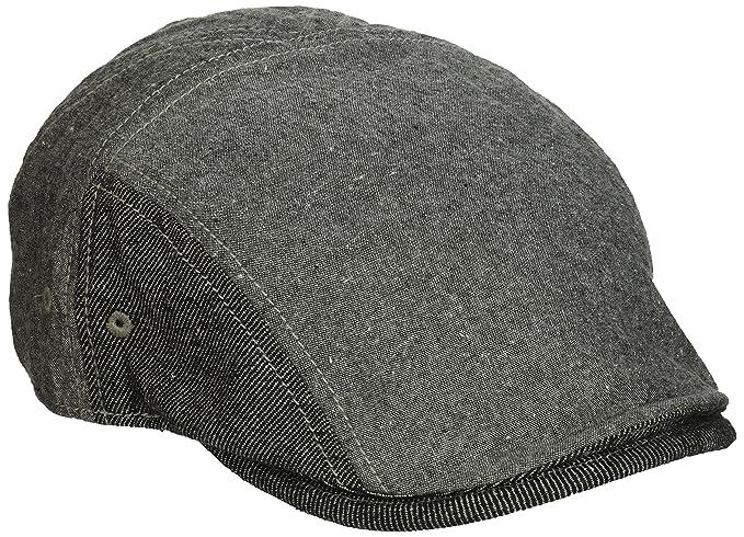 ba9fa0d1 Original Penguin Men's Chambray Driving Cap, Black, One Size at Amazon Men's  Clothing store: