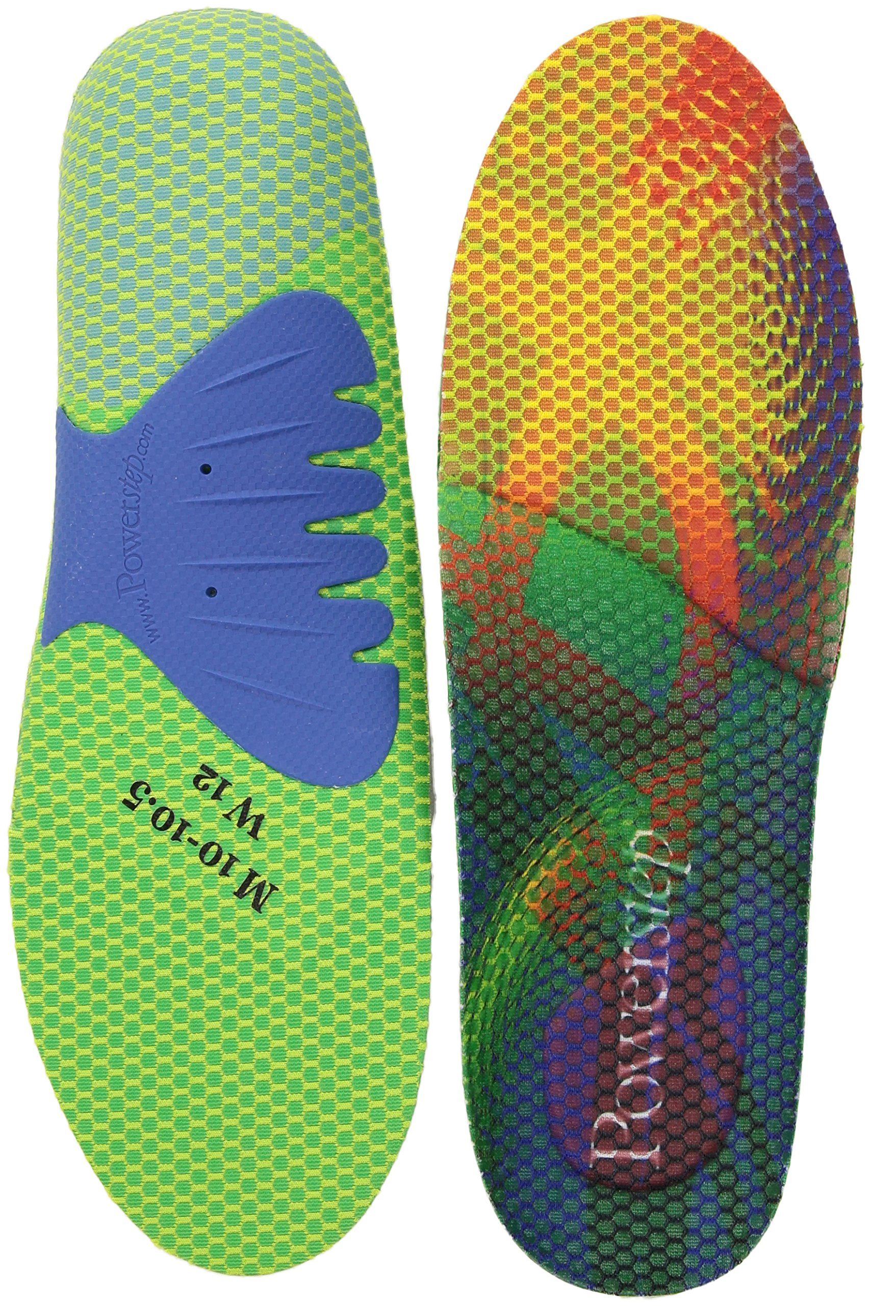 Powerstep Endurance Insole, Multicolor, Men's 8-8.5, Women's 10-10.5 Regular US by Powerstep