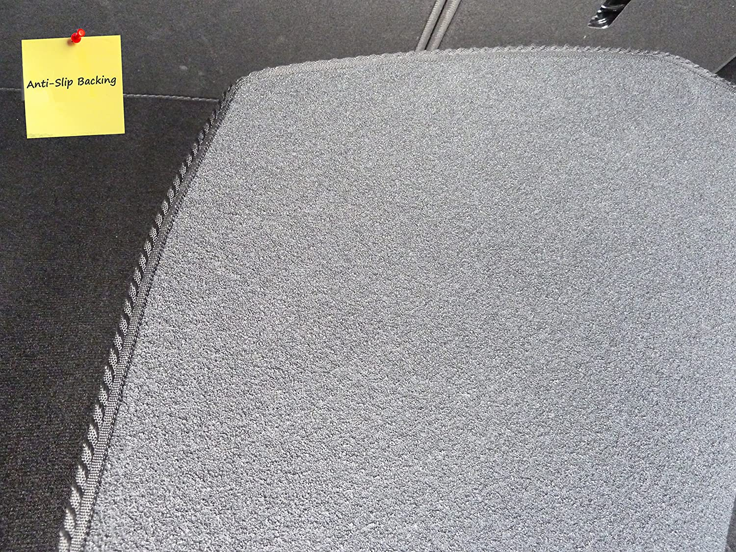 Connected Essentials Tailored Custom Fit Luxury Automotive Velour Carpet Boot Mat Boot Liner for 93 2003-2014 Black with Black Trim