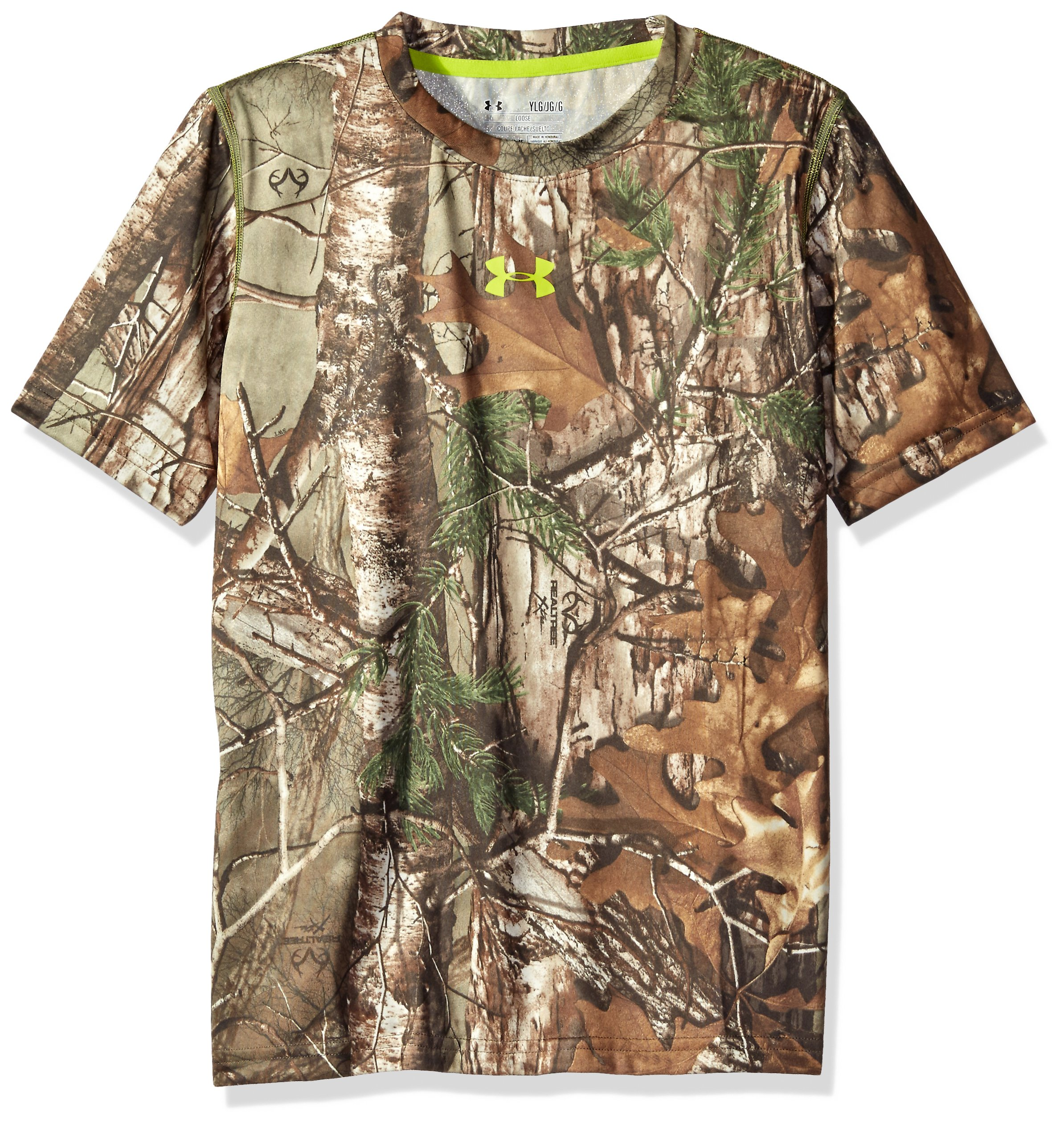 Under Armour Boys' Tech Scent Control T-Shirt, Realtree Ap-Xtra /Velocity, Youth X-Large by Under Armour