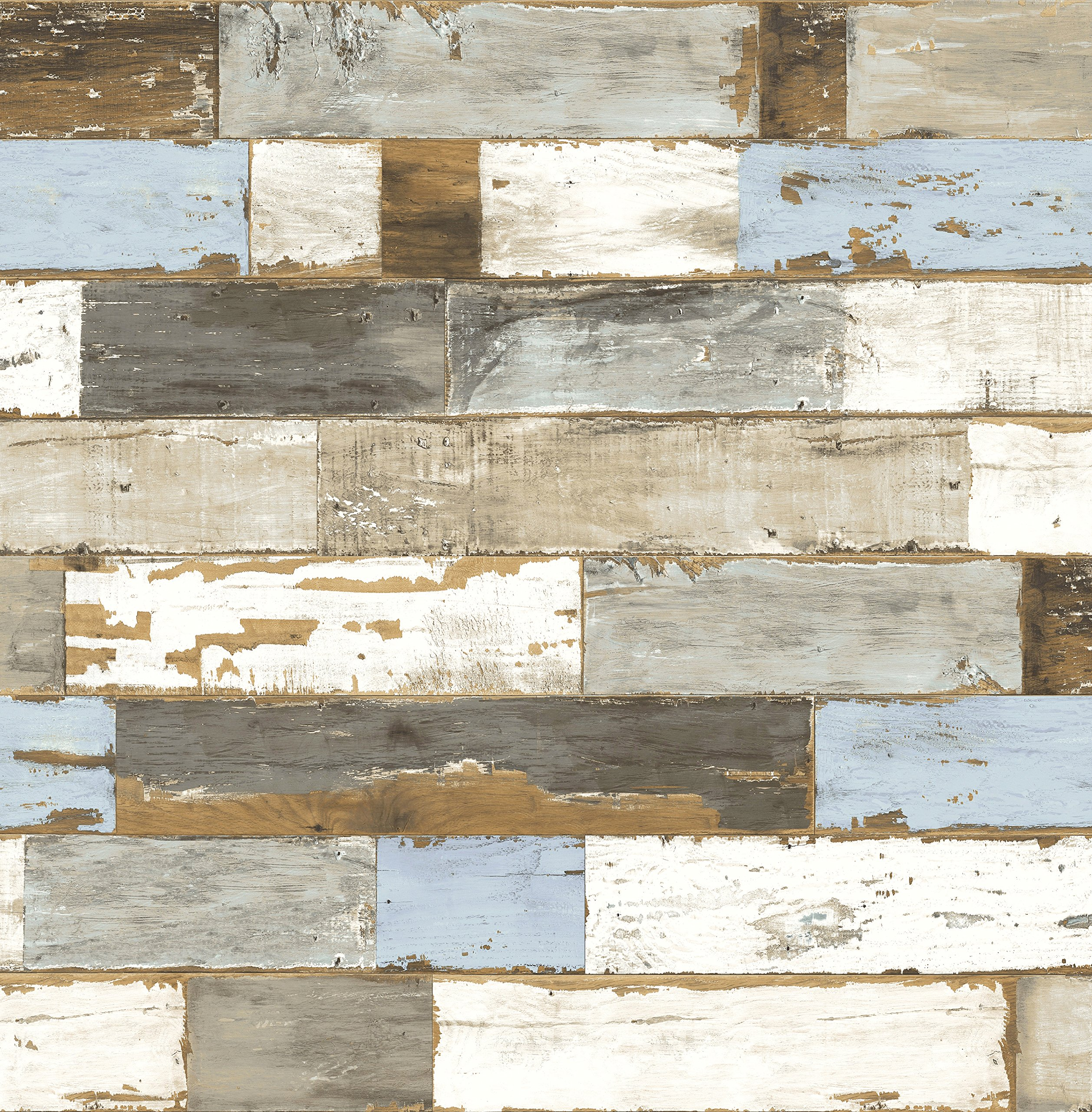 NextWall Colorful Shiplap Peel and Stick Wallpaper
