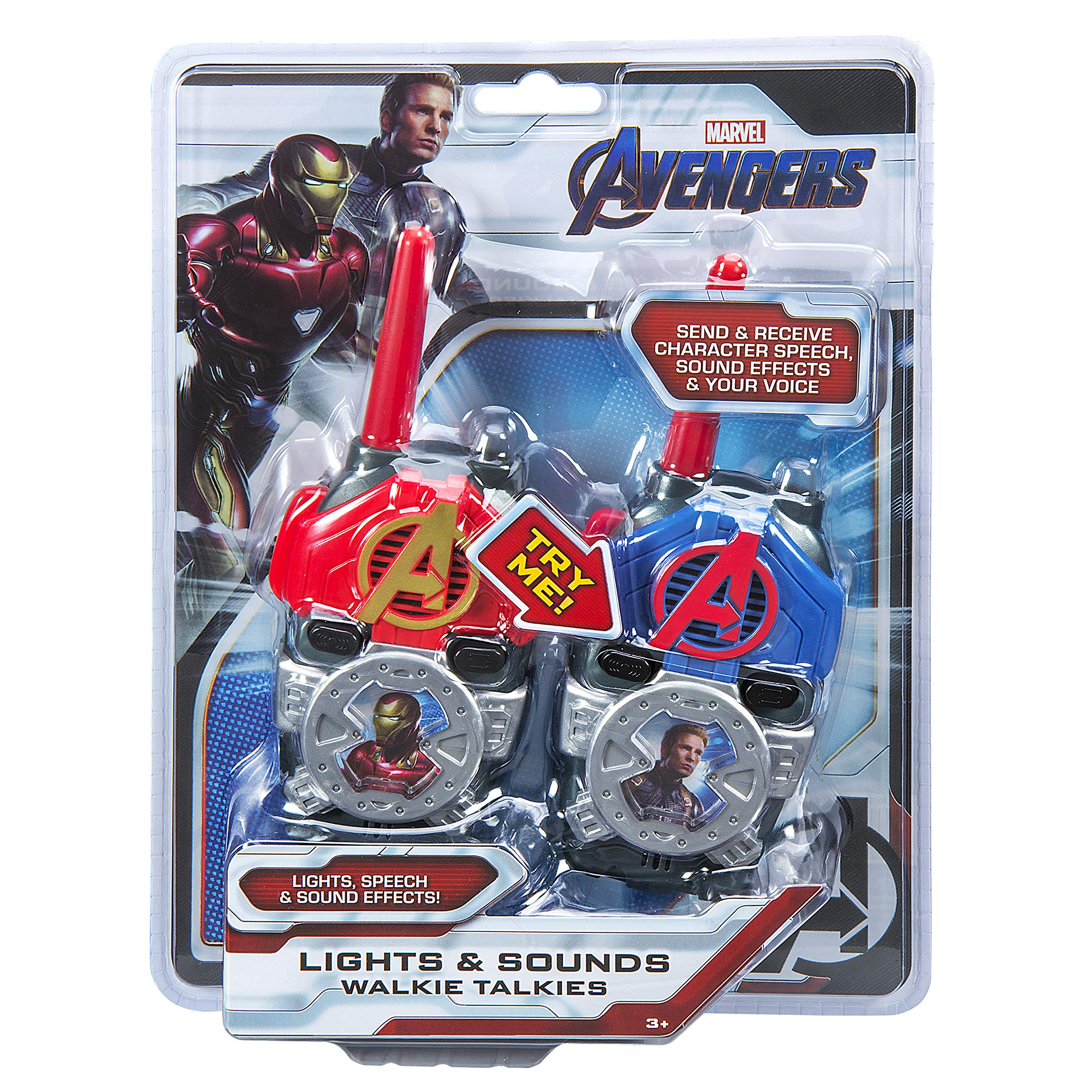 eKids Avengers Endgame FRS Walkie Talkies with Lights & Sounds Kid Friendly Easy to Use by eKids (Image #5)