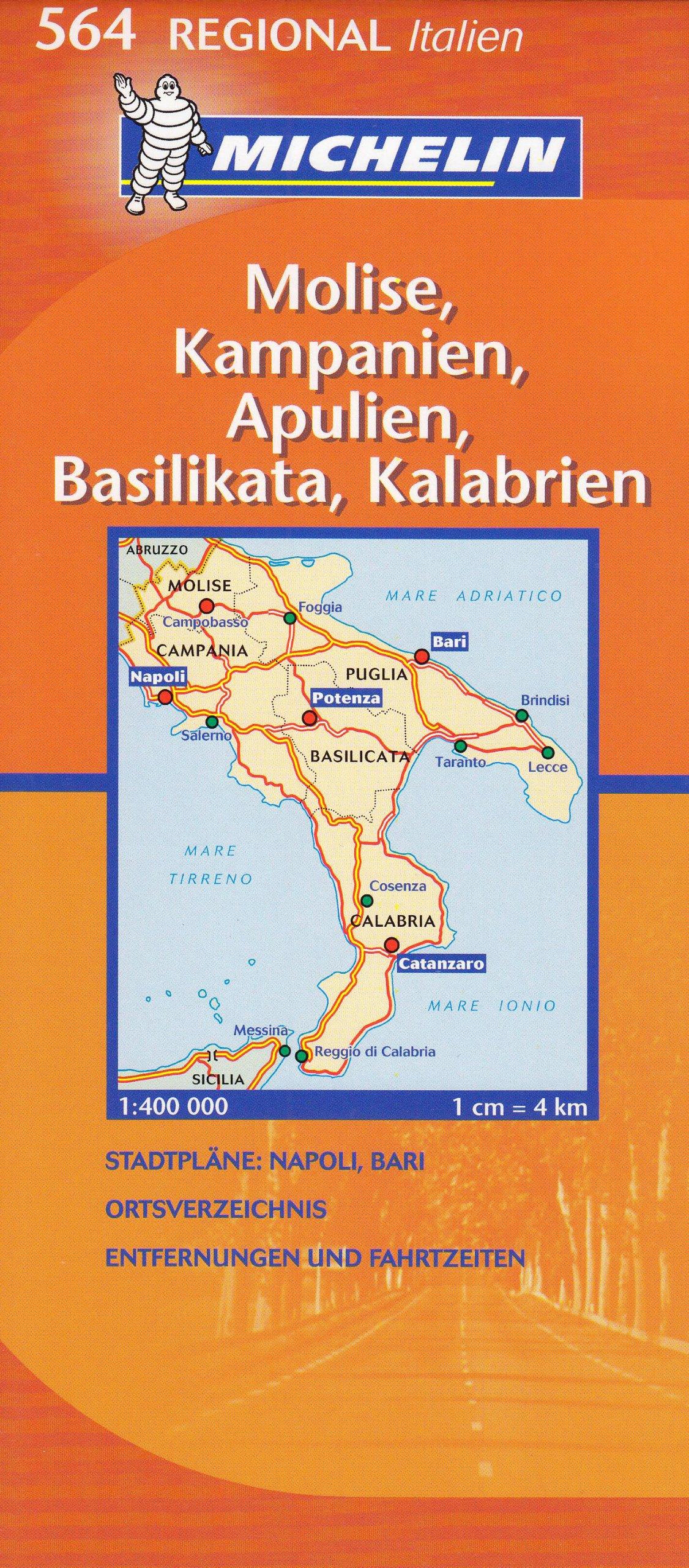 Regionalkarte Molise/Kampanien/Apulien (MICHELIN Regionalkarten, Band 564)