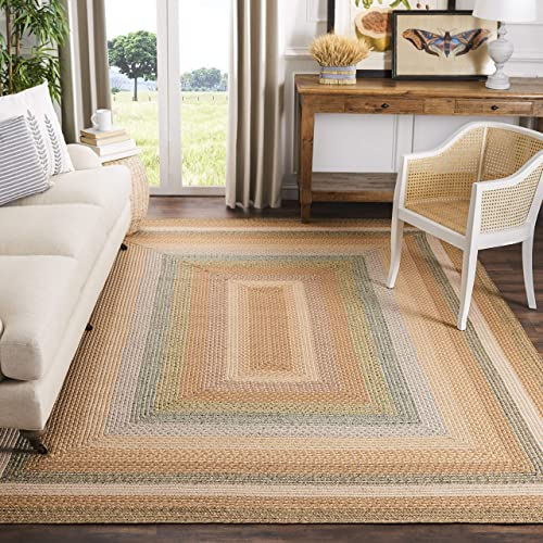 Safavieh Braided Collection BRD314A Handmade Country Cottage Reversible Area Rug