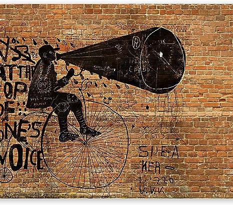 Image of murando Fotomurales 100x70 cm XXL Papel pintado tejido no tejido Decoración de Pared decorativos Murales moderna Diseno Fotográfico ladrillo f-B-0033-a-d