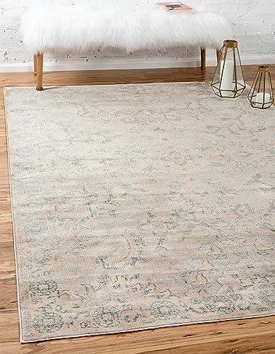 Editors' Choice: Unique Loom Paris Collection Pastel Tones Traditional Distressed Gray Area Rug 7' 0 x 10' 0
