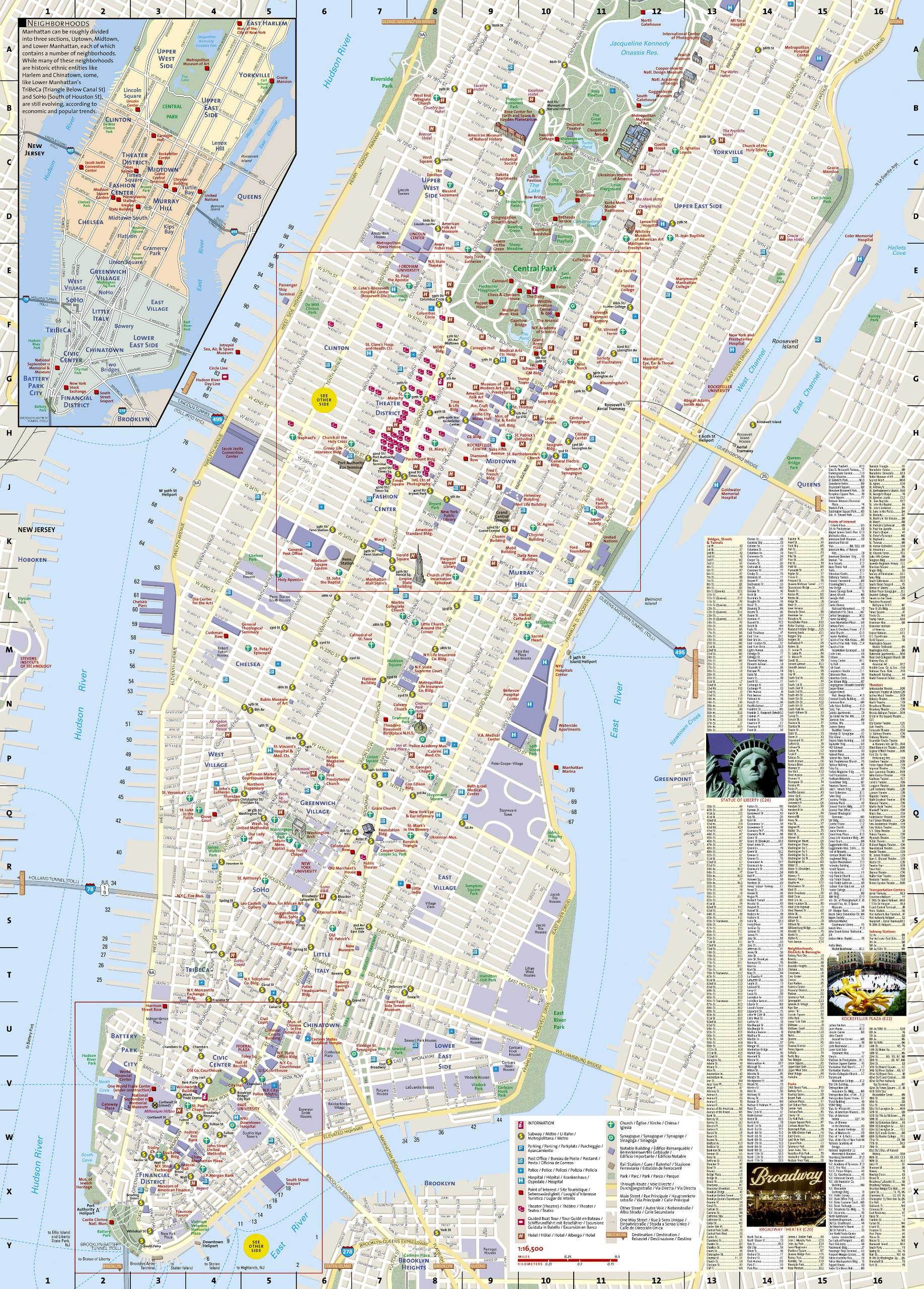 Map Of New York New York Hotel.New York City National Geographic Destination City Map National
