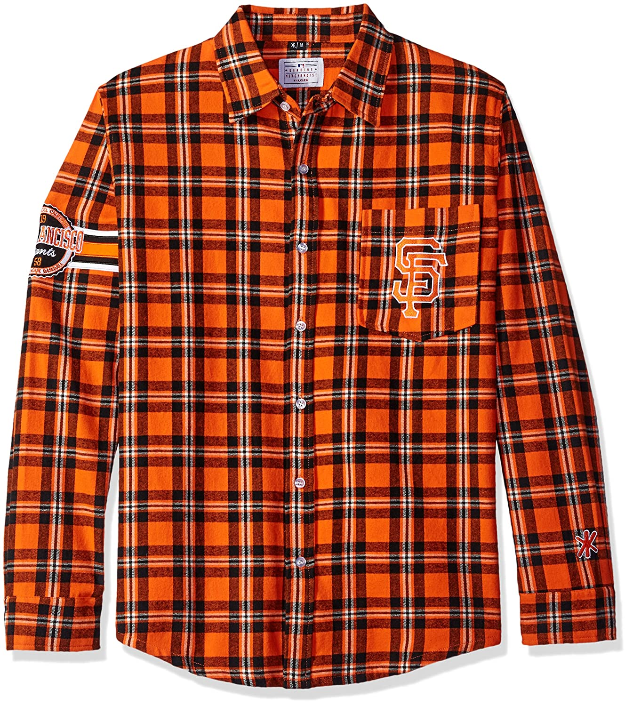 San Francisco Giants Wordmark Basic Flannel Shirt Large