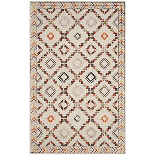 Safavieh Bellagio Collection BLG548A Ivory and Multi Premium Wool Area Rug 2 6 x 4