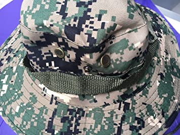Military Army Jungle Large Wide Brim Boonie Bush Sun Hat Cap Special Force
