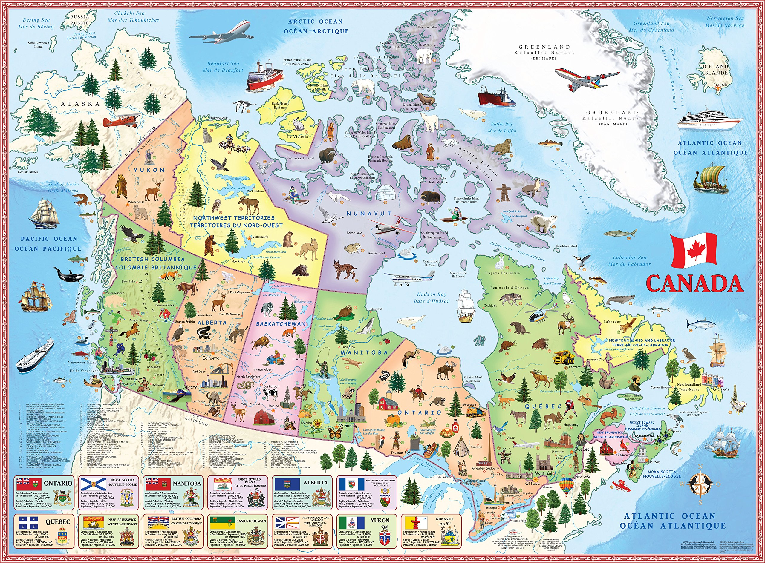 Map Of Canada Images.Illustrated Map Of Canada For Kids Akros 9789871663088