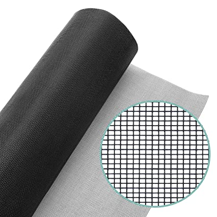 Window Screen Mesh Roll 48in x 100ft – Fiberglass Screen Replacement Mesh  for DIY Projects - Black Mesh